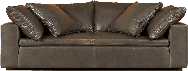 Exceptional Casco Bay Furniture Cloud Leather Sofa In Italian Mont Blanc Wolf.